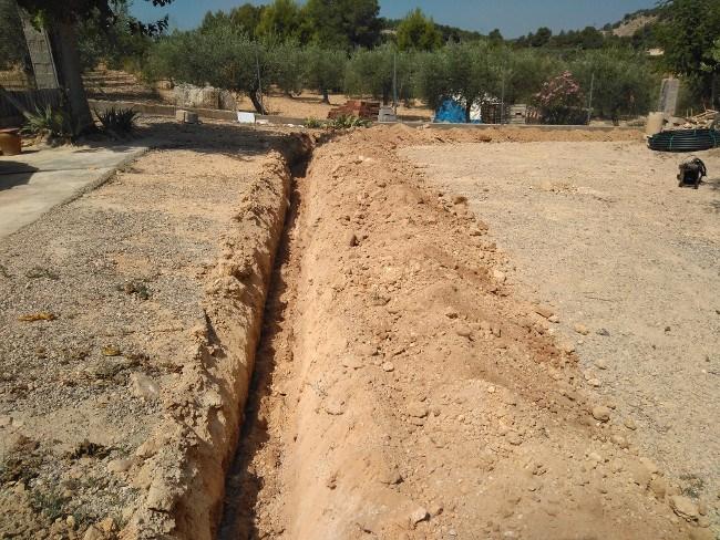 excavación zanjas Valencia