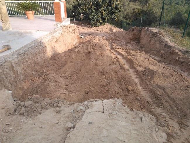 excavación vasos para piscinas