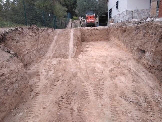 excavación piscinas