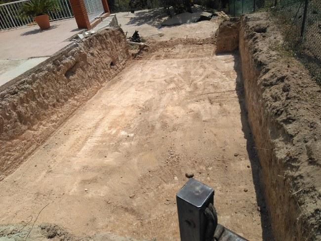 excavación vasos